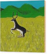 Black Buck Wood Print