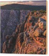 Black Canyon Sunset Glow Wood Print