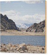Black Canyon View - Pathfinder Reservoir - Wyoming Wood Print