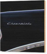Black Chevy Wood Print