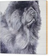 Black Chow Chow  Wood Print