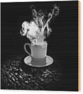 Black Coffee Wood Print by Stefano Senise