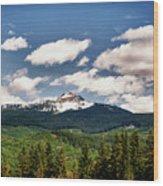 Black Comb Glacier In Hdr Wood Print