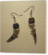 Black Dagger Earrings Wood Print