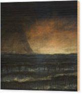 Black Day At The Beach - Bp Wood Print