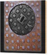 Black Diamond Wood Print