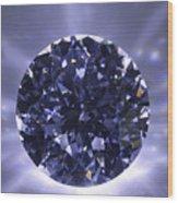 Black Diamond Shine Aura. Wood Print