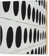 Black Dots Wood Print