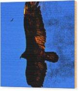 Black Eagles Vision Wood Print