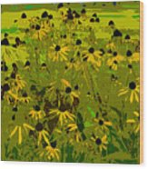 Black Eyed Susan Work Number 21 Wood Print