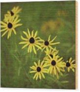 Black Eyed Susans Wood Print
