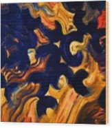 Black Fire Wood Print