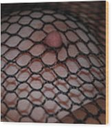 Black Fishnet Wood Print