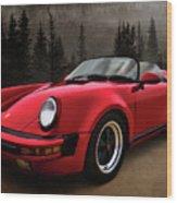 Black Forest - Red Speedster Wood Print