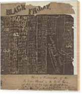 Black Friday, 1869 Wood Print