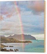 Black Friday Rainbow Wood Print