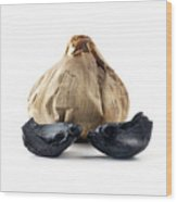Black Garlic Wood Print