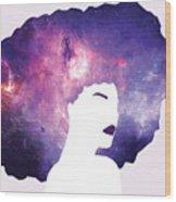 Black Girl Magic Lavender Wood Print