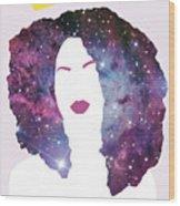 Black Girl Magic Sparkle Wood Print