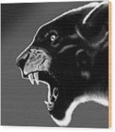 Black Glow Tiger Wood Print