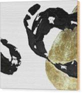 Black Gold 1 Wood Print