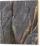 Black Granite Abstract Two Wood Print