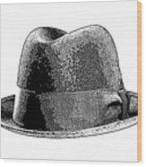 Black Hat T-shirt Wood Print