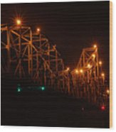 Black Hawk At Night 2 Wood Print