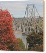 Black Hawk Bridge Wood Print