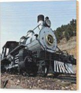 Black Hawk Train Wood Print