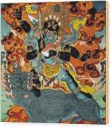 Black Hayagriva Wood Print