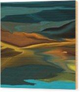 Black Hills Abstract Wood Print by David Lane