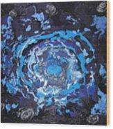 Black-hole Blues Wood Print