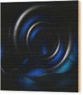 Black Ice Wood Print