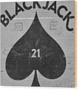 Black Jack  Wood Print