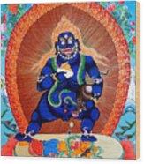 Black Jambhala  4 Wood Print