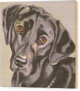 Black Lab Aint No Cure For Love Wood Print