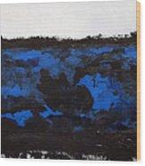 Black Lace Wood Print by KR Moehr