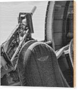 Black Machine Gun Wwii Wood Print