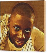Young Black Male Teen 1 Wood Print