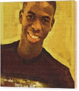Young Black Male Teen 2 Wood Print
