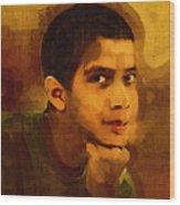 Young Black Male Teen 3 Wood Print