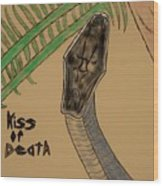 Black Mamba-kiss Of Death Wood Print