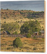 Black Mesa Ranch Wood Print by Charles Warren