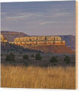 Black Mesa Sunrise Wood Print by Charles Warren