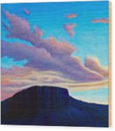 Black Mesa Sunset Wood Print