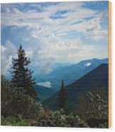 Black Mountain On Blue Ridge Wood Print