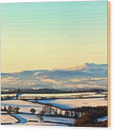 Black Mountains And Vale Of Usk Wood Print