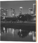 Black Night In Fort Worth Wood Print