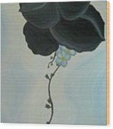 Black Pansi Wood Print